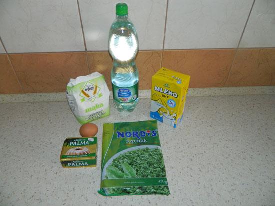 Naleśniki ze szpinakiem - składniki