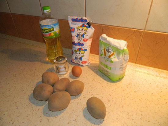 Placki ziemniaczane - produkty