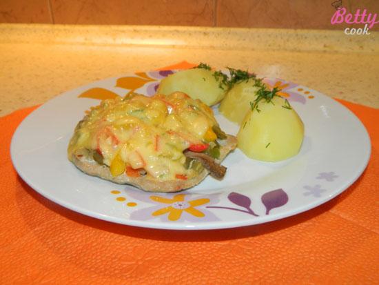 Kolorowy schabowy z ziemniaczkami