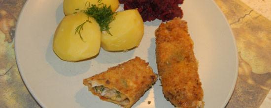 Roladki schabowe z żółtym serem
