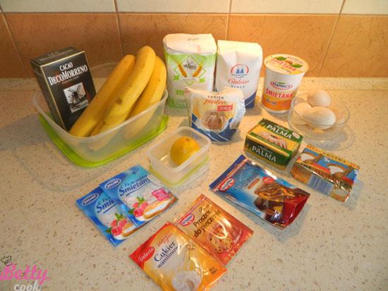 Ciasto bananowe - składniki