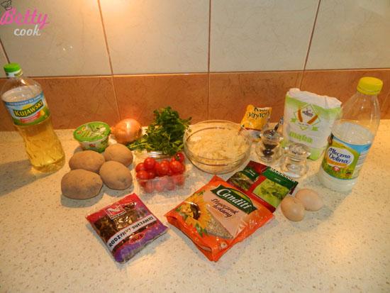 Placki ziemniaczane z kiszoną kapustą - składniki
