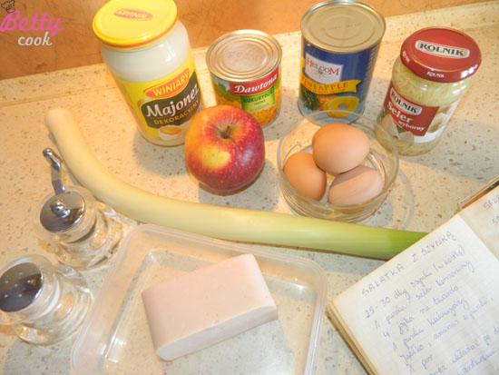 Sałatka z szynką - składniki
