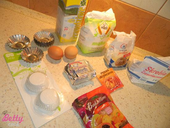Słodkie babeczki składniki