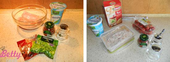 Filety z kurczaka w jogurtowej marynacie - składniki