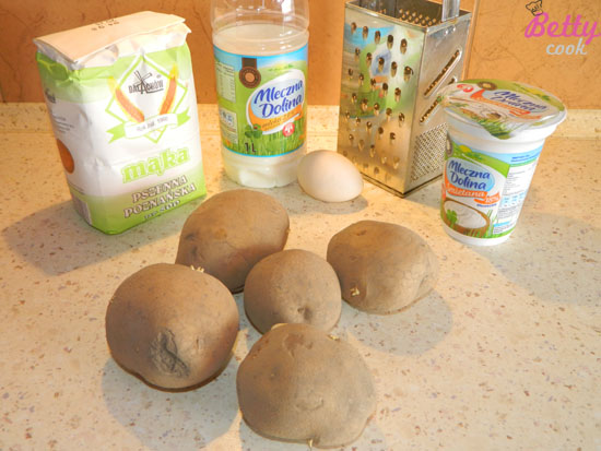 Placki ziemniaczane - składniki