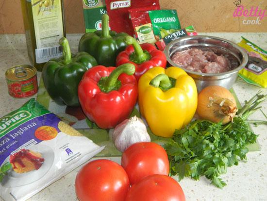 Papryka faszerowana kaszą jaglaną - składniki