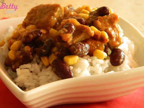 Wieprzowina z ryżem