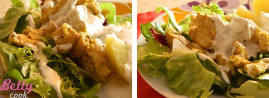 kawałki kurczaka w sosie Curry z imbirem
