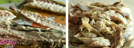 Obrane mięso z ości