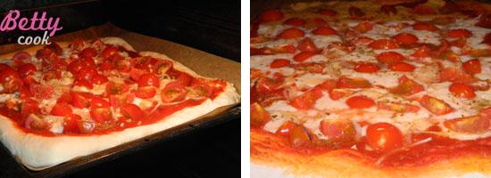 Pizza Caprese w piekarniku