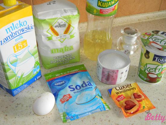 Placuszki śniadaniowe - składniki