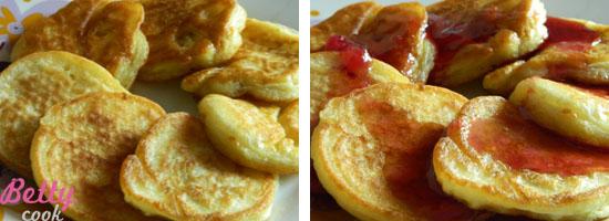 Placuszki śniadaniowe z dżemem