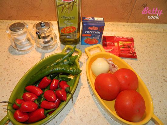 Sos salsa - składniki