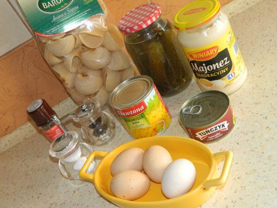 Makaronowe koszyczki składniki