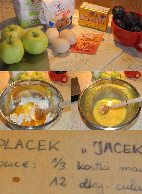 Placek Jacek składniki