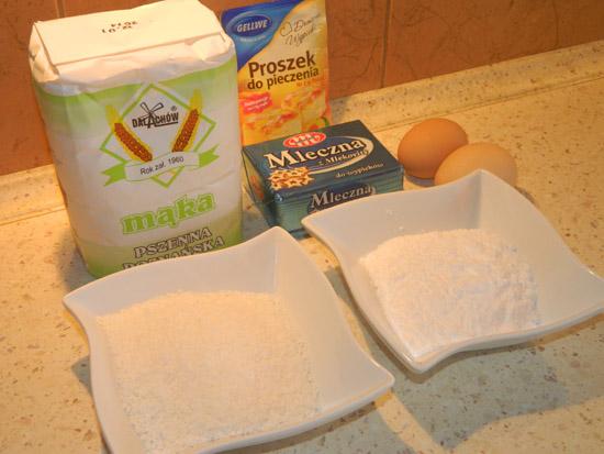 Ciasteczka kokosowe - składniki