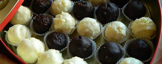 Czekoladowe kuleczki oblane czekoladą