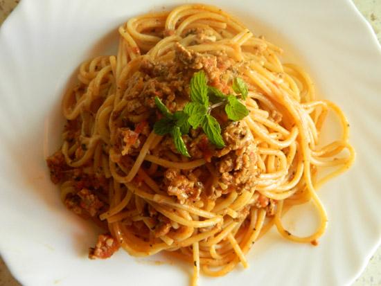 Spaghetti z Mozzarellą