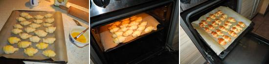 Wkładamy rogaliki do piekarnika