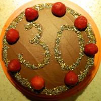 Tort z biszkoptem czekoladowym